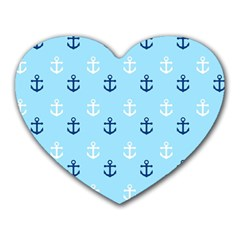 Anchors In Blue And White Mouse Pad (heart)