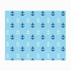 Anchors In Blue And White Glasses Cloth (Small, Two Sided)