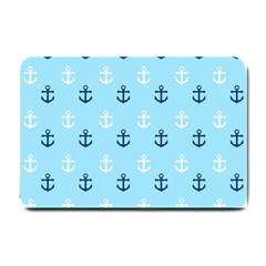 Anchors In Blue And White Small Door Mat