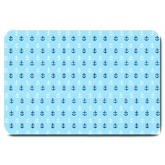 Anchors In Blue And White Large Door Mat