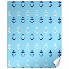 Anchors In Blue And White Canvas 11  x 14  (Unframed)