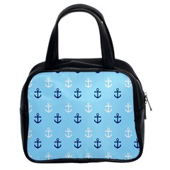 Anchors In Blue And White Classic Handbag (two Sides)