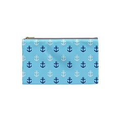 Anchors In Blue And White Cosmetic Bag (small)