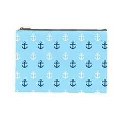 Anchors In Blue And White Cosmetic Bag (large)