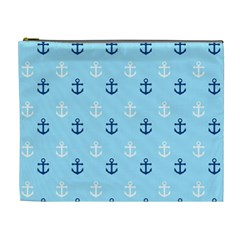 Anchors In Blue And White Cosmetic Bag (xl)
