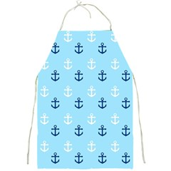 Anchors In Blue And White Apron