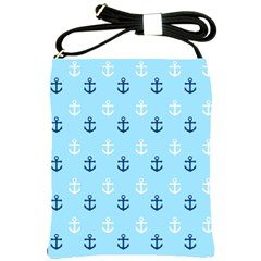 Anchors In Blue And White Shoulder Sling Bag