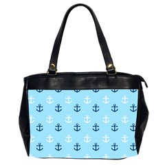 Anchors In Blue And White Oversize Office Handbag (two Sides)