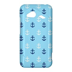 Anchors In Blue And White HTC Droid Incredible 4G LTE Hardshell Case