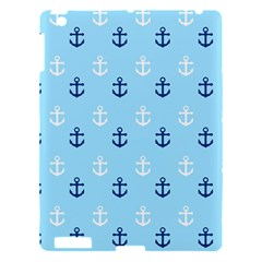 Anchors In Blue And White Apple Ipad 3/4 Hardshell Case