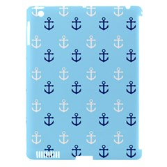 Anchors In Blue And White Apple Ipad 3/4 Hardshell Case (compatible With Smart Cover)