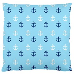 Anchors In Blue And White Large Cushion Case (Two Sided)