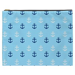 Anchors In Blue And White Cosmetic Bag (xxxl)