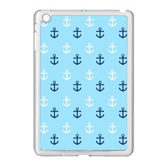 Anchors In Blue And White Apple iPad Mini Case (White)