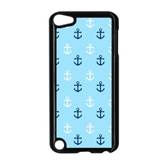 Anchors In Blue And White Apple iPod Touch 5 Case (Black)