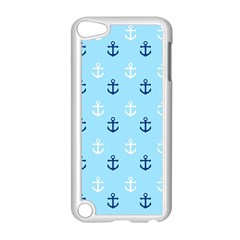 Anchors In Blue And White Apple Ipod Touch 5 Case (white)