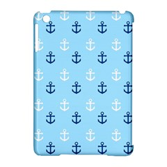 Anchors In Blue And White Apple iPad Mini Hardshell Case (Compatible with Smart Cover)