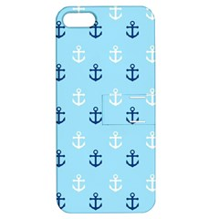 Anchors In Blue And White Apple Iphone 5 Hardshell Case With Stand