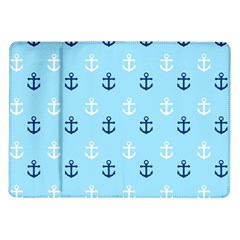 Anchors In Blue And White Samsung Galaxy Tab 10.1  P7500 Flip Case