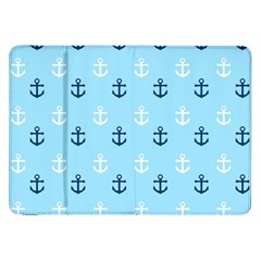Anchors In Blue And White Samsung Galaxy Tab 8.9  P7300 Flip Case