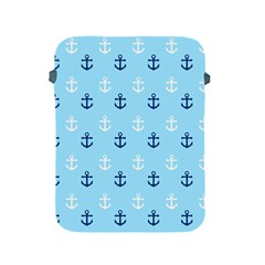 Anchors In Blue And White Apple Ipad Protective Sleeve