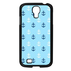 Anchors In Blue And White Samsung Galaxy S4 I9500/ I9505 Case (Black)