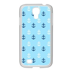 Anchors In Blue And White Samsung Galaxy S4 I9500/ I9505 Case (white)