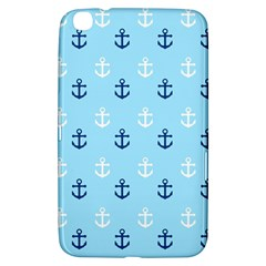 Anchors In Blue And White Samsung Galaxy Tab 3 (8 ) T3100 Hardshell Case