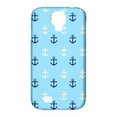 Anchors In Blue And White Samsung Galaxy S4 Classic Hardshell Case (PC+Silicone)
