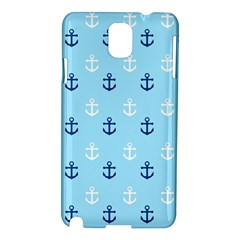 Anchors In Blue And White Samsung Galaxy Note 3 N9005 Hardshell Case