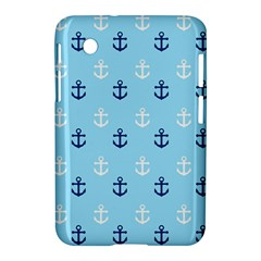 Anchors In Blue And White Samsung Galaxy Tab 2 (7 ) P3100 Hardshell Case