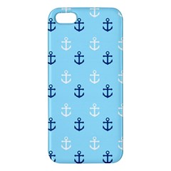 Anchors In Blue And White iPhone 5S Premium Hardshell Case