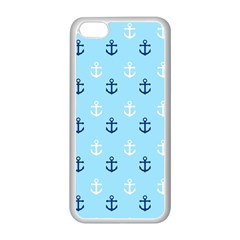 Anchors In Blue And White Apple iPhone 5C Seamless Case (White)