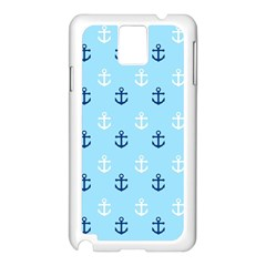 Anchors In Blue And White Samsung Galaxy Note 3 N9005 Case (White)