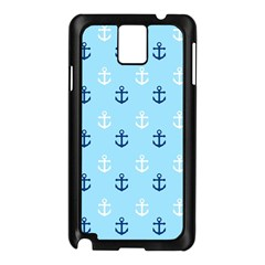 Anchors In Blue And White Samsung Galaxy Note 3 N9005 Case (black)