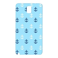 Anchors In Blue And White Samsung Galaxy Note 3 N9005 Hardshell Back Case