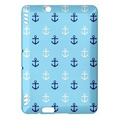 Anchors In Blue And White Kindle Fire Hdx 7  Hardshell Case