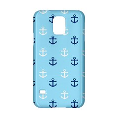 Anchors In Blue And White Samsung Galaxy S5 Hardshell Case