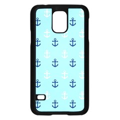 Anchors In Blue And White Samsung Galaxy S5 Case (Black)