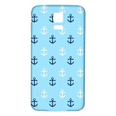 Anchors In Blue And White Samsung Galaxy S5 Back Case (White)