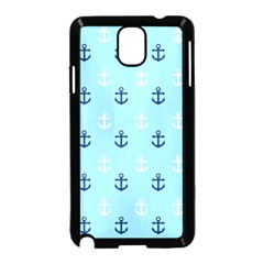 Anchors In Blue And White Samsung Galaxy Note 3 Neo Hardshell Case (Black)