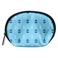 Anchors In Blue And White Accessory Pouch (medium)