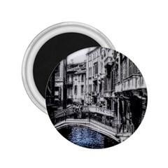 Vintage Venice Canal 2.25  Button Magnet