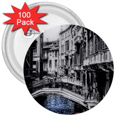 Vintage Venice Canal 3  Button (100 pack)