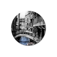 Vintage Venice Canal Magnet 3  (round)