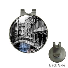Vintage Venice Canal Hat Clip With Golf Ball Marker