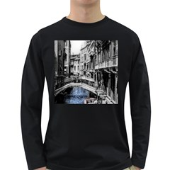 Vintage Venice Canal Men s Long Sleeve T-shirt (Dark Colored)