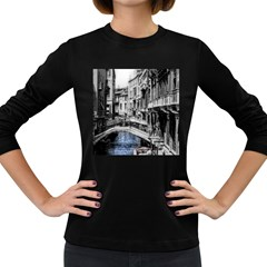 Vintage Venice Canal Women s Long Sleeve T-shirt (Dark Colored)