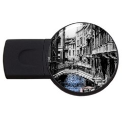 Vintage Venice Canal 4gb Usb Flash Drive (round)