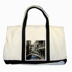 Vintage Venice Canal Two Toned Tote Bag